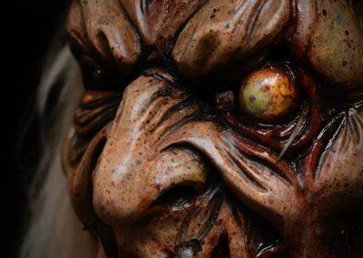 Maschera Krampus paurosa dettagli