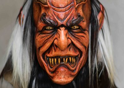 Maschera Krampus rossa