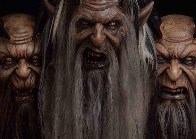 tre maschere krampus