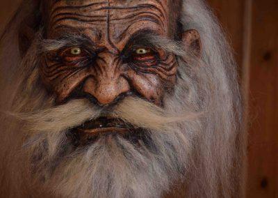 maschera krampus anziano